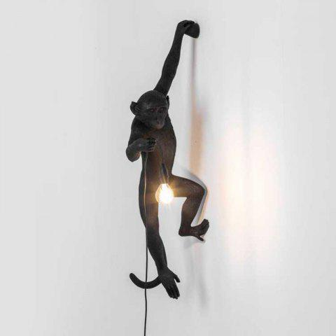 MS - 20W Modern Individuality Creative Monkey Shape Wall Lamp for Living Room Bedroom - BLACK 220-240V