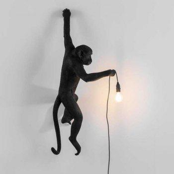 Modern Individuality Creative Monkey Shape Wall Lamp for Living Room Bedroom - BLACK 220-240V