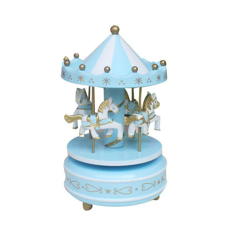 Merry Go Round Music Box Toy Christmas Wedding Birthday Gift hot funland merry go round building block with motor figures whirligig bricks 10196 model electric toys collection for kids gfit