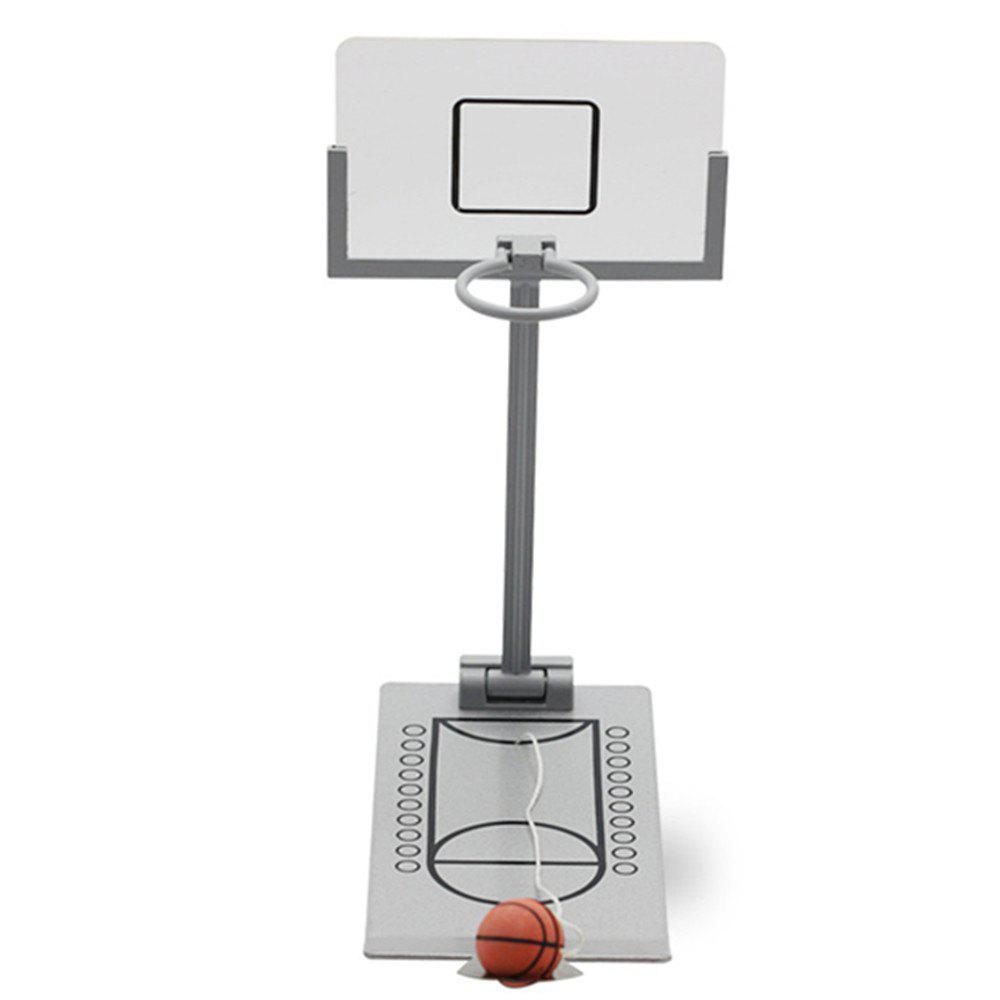Basketball Hoop Mini Desktop Folding Machine Stress Reliever Creative Small - WHITE