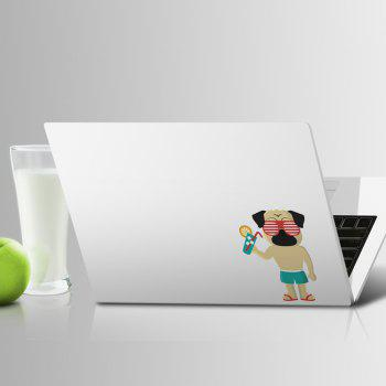 Art Creative Notebook Refrigerator Luggage Cartoon Leisure Dog Sticker M026C - multicolor A
