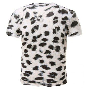 Summer Fashion New Round Collar Leopard Print Men's Short Sleeve T-shirt - LEOPARD L