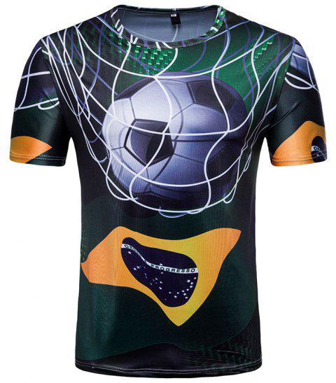 7bf5a0c35 2019 2018 Summer New World Cup Theme Brazil Fans T-shirt In BLACK M ...