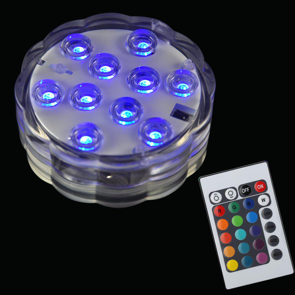 BRELONG 10LED Remote Control Color Dive Lights Bars Parties Holiday Decoration - COOL WHITE