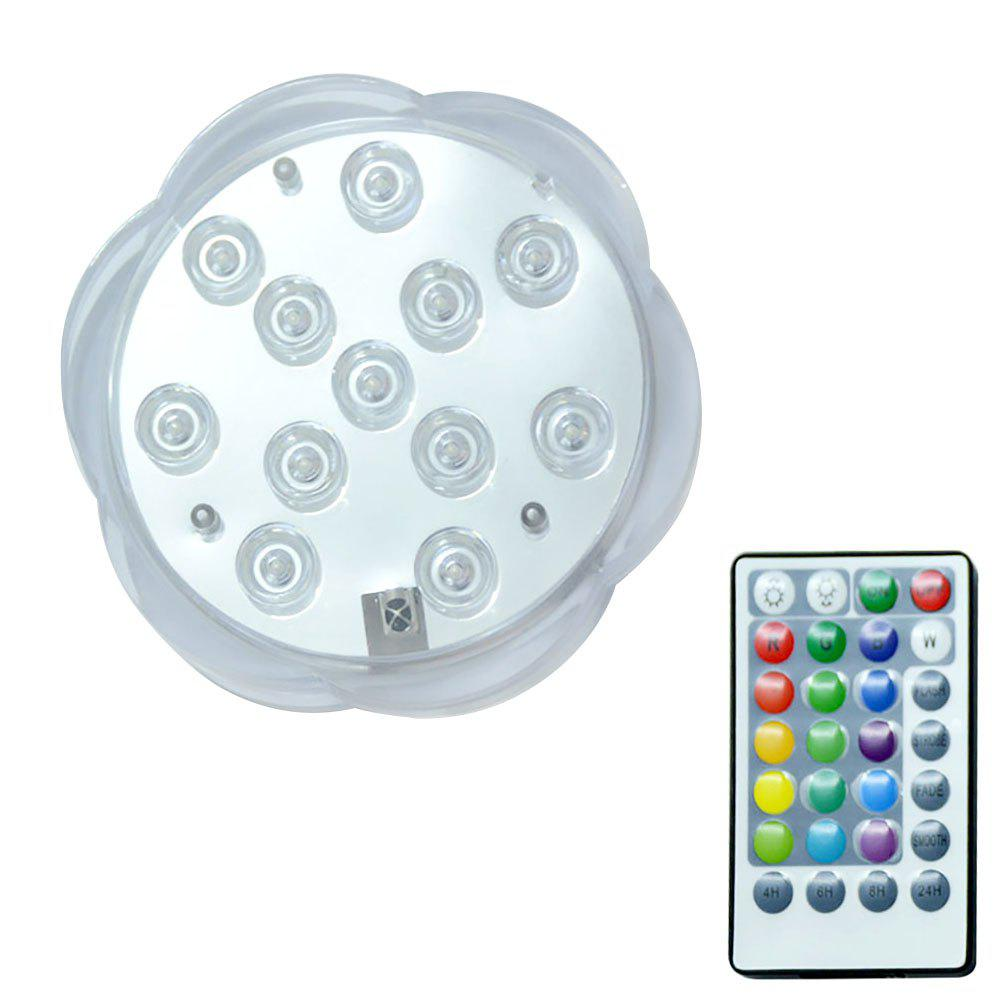 BRELONG 12LED Remote Dive Lights Colorful Plum Candle Night Lamp - TRANSPARENT
