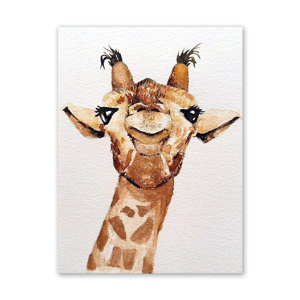 W046 Giraffe Unframed Art Wall Canvas Prints for Home Decoration family wall quote removable wall stickers home decal art mural