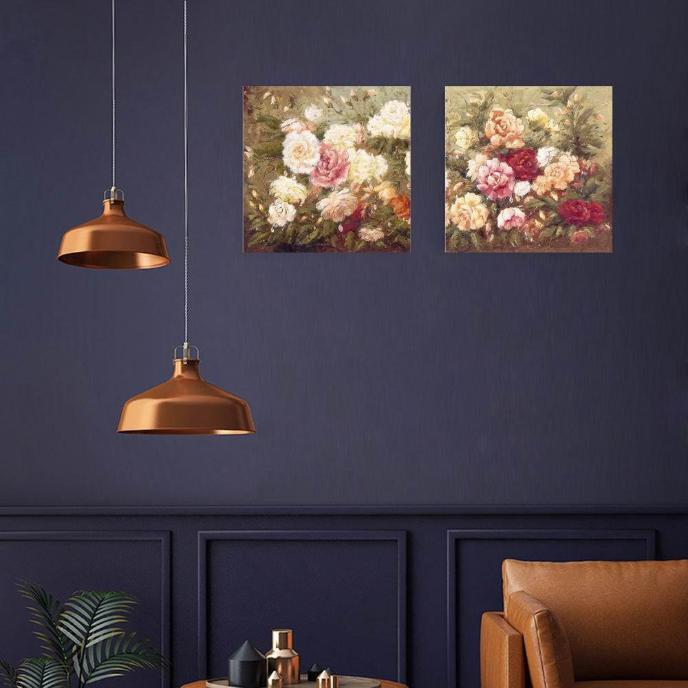 Фото W121 Flowers Unframed Art Wall Canvas Prints for Home Decorations 2 PCS family wall quote removable wall stickers home decal art mural