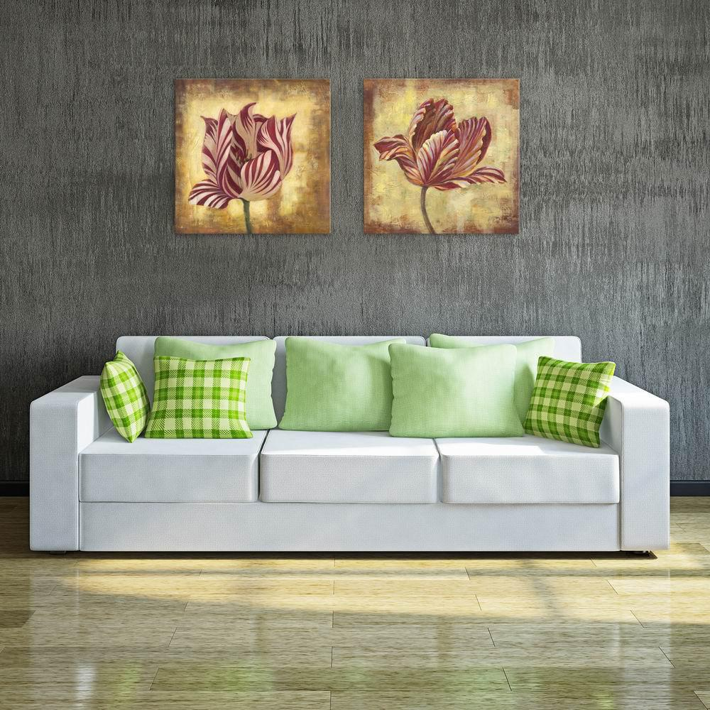 Фото W122 Unique Flower Unframed Art Wall Canvas Prints for Home Decorations 2 PCS family wall quote removable wall stickers home decal art mural