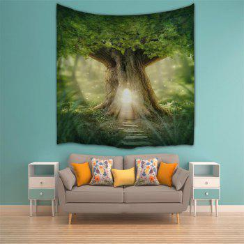 The Door of The Forest 3D Printing Home Wall Tapestry for Decoration - multicolor A W153CMXL102CM