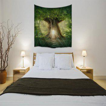 The Door of The Forest 3D Printing Home Wall Tapestry for Decoration - multicolor A W200CMXL180CM