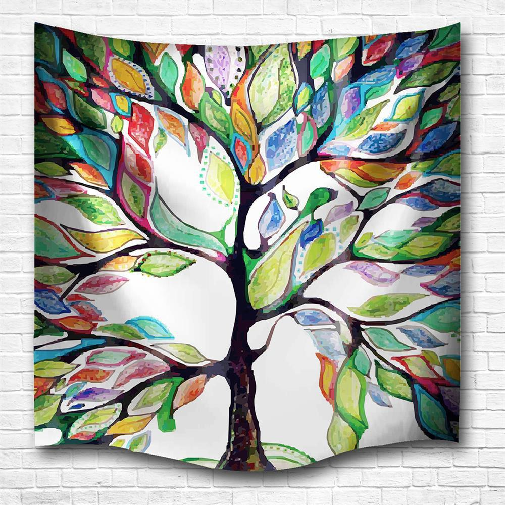 Color of The Tree 3D Printing Home Wall Hanging Tapestry for Decoration - multicolor A W153CMXL130CM