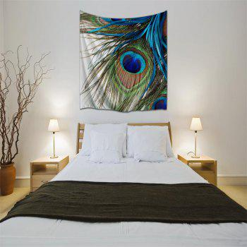 Peacock Feather 3D Printing Home Wall Hanging Tapestry for Decoration - multicolor A W153CMXL102CM