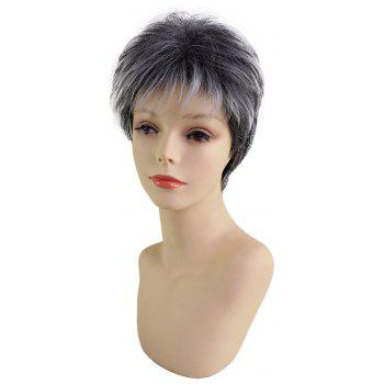 Short Beautiful Fashion Synthetic Wig Fit for Various Occasions - multicolor P