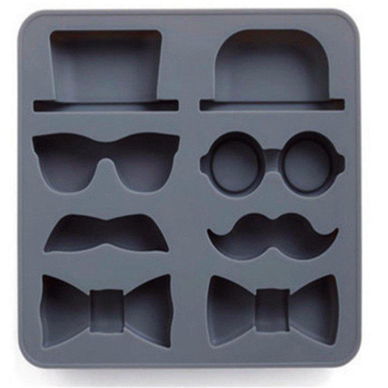 New Creative Silicone Gentleman Mustache Ice Tray Mold ice box mold yellow