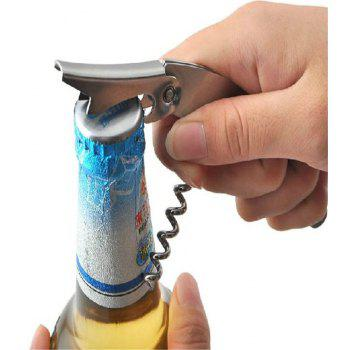 New Multifunctional Simple Portable Spiral Wine Opener Tool - SILVER