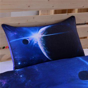 3D Earth Moon Bedding  Duvet Cover Set Digital Print 3pcs - multicolor FULL