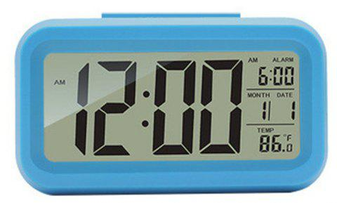 Creative Fashion Bright Light Small Alarm Clock - SKY BLUE