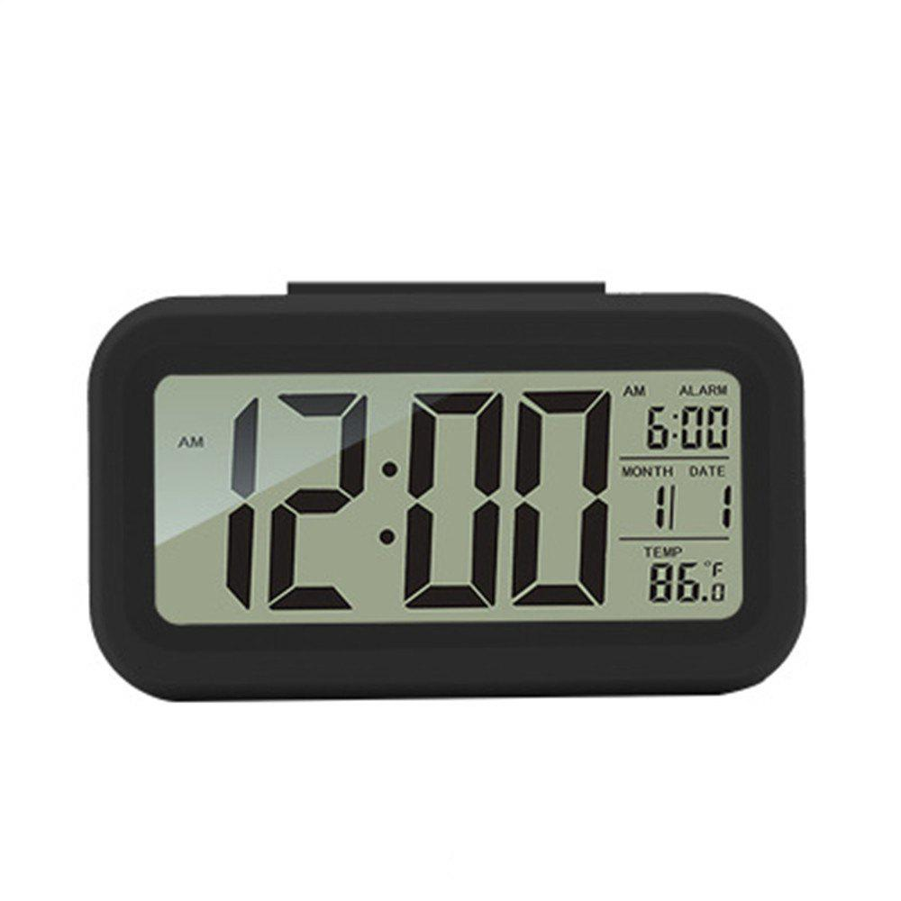 Creative Fashion Bright Light Small Alarm Clock - BLACK