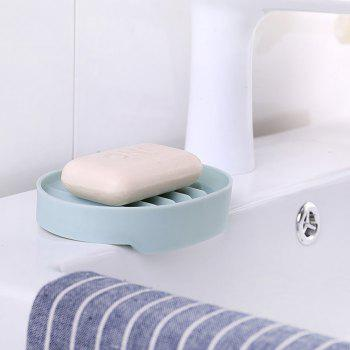 Simple Drain Soap Box with Suction Cup - LIGHT BLUE