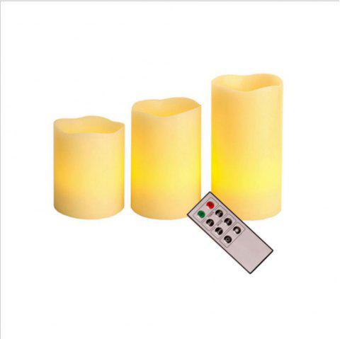 3PCS LED Simulation Swing Remote Control Electronic Candle Light - CHAMPAGNE