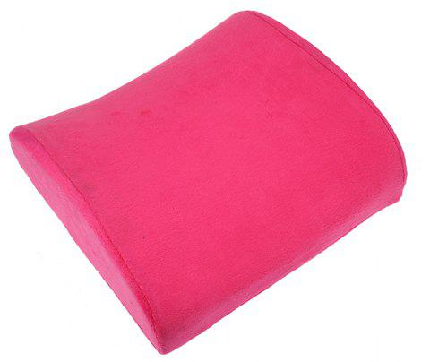 Office Elastic Belt Core Seat Cushion Lumbar Pillow - ROSE RED