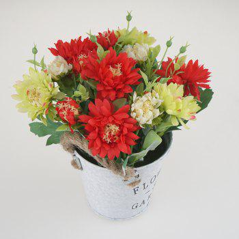 Home Potted Art Flower - RED