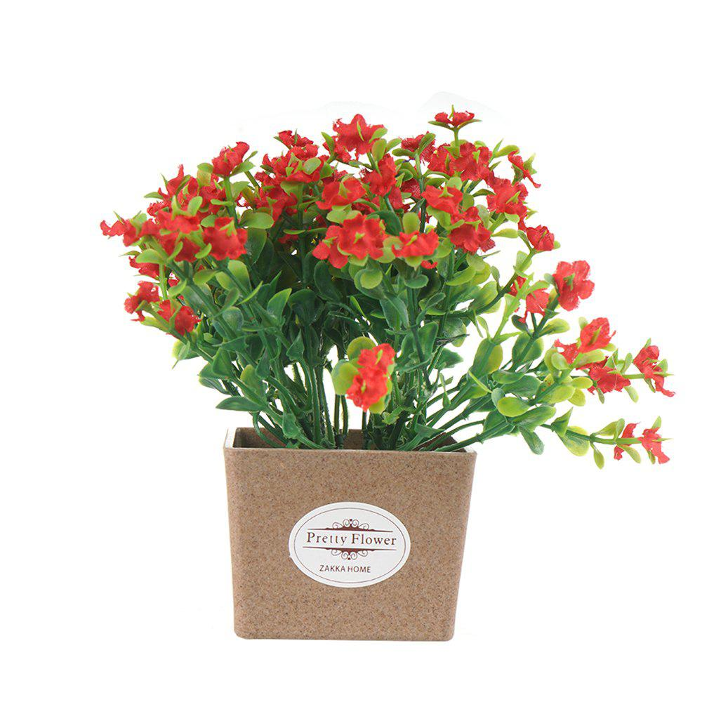 Artificial Plant Decoration Bonsai - RED