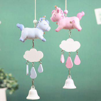 Girl Heart Unicorn Wind Chime - LIGHT BLUE