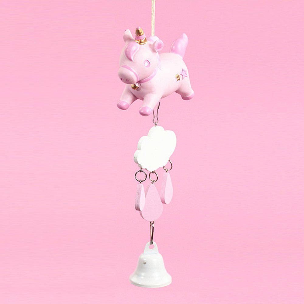 Girl Heart Unicorn Wind Chime - LIGHT PINK