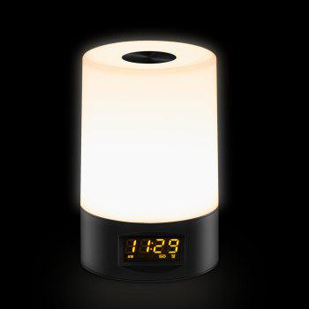 Multi-Colors Smart Touch Wake Up Light-Alarm Clock With Adjustable Night Light - BLACK