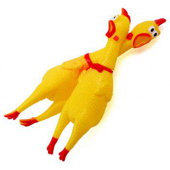 Chic Cute Screaming Chicken Pet Toys Squeaker Rubber Yellow Color - RUBBER DUCKY YELLOW