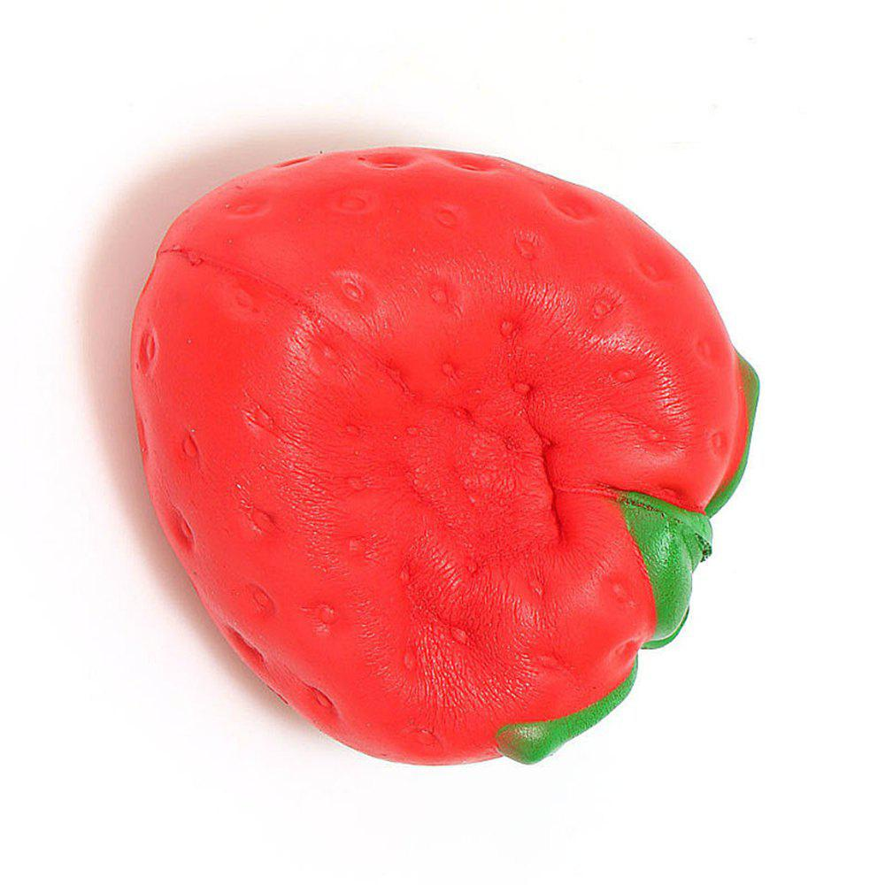 Simulate Red Large Strawberry Slow Rebound Toy Jumbo Squishy - RED
