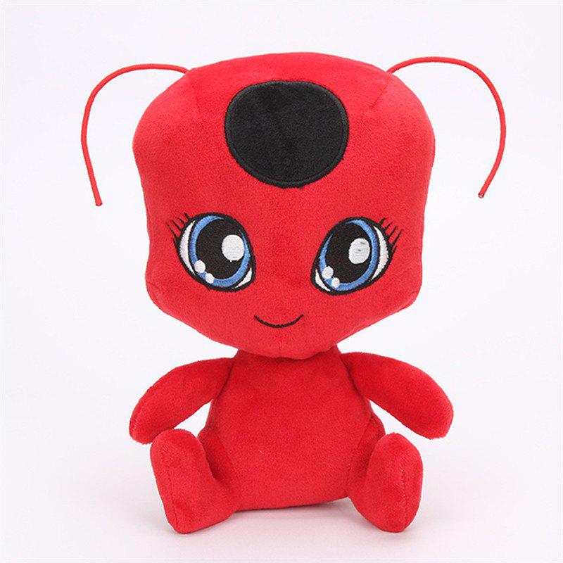 Lovely Red Ladybug Doll Toy new hot sale miraculous ladybug and cat noir juguetes toy doll lady bug adrien marinette plagg tikki plush doll