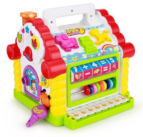 Colorful Baby Fun House Electronic Geometric Block with Music - multicolor A