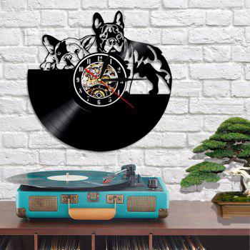 Vinyl Record Wall Clock Decor Art Gifts Present - BLACK WITHOUT BATTERY