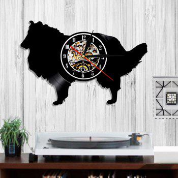 Vinyl Clock Bedroom Wall Decoration Bithday Gifts Present - BLACK WITHOUT BATTERY