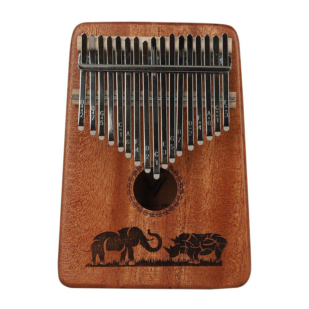 Kalimba 17 Keys with Instruction and Tune Hammer  Portable Thumb Piano Mbira San - MAHOGANY