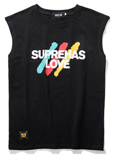 Men's Sleevsless Hiphop T-shirt - BLACK L