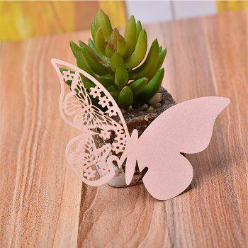 Creative Seat Card Wedding Table Table Decorative Paper Butterfl - PINK 11X7.5CM