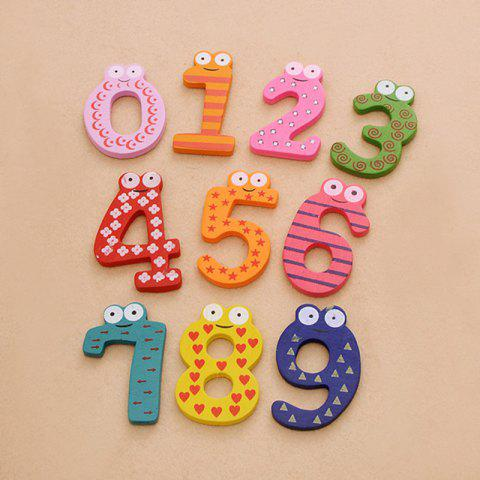 Digital Wooden Refrigerator Attached To Early Childhood Children Toys (10pcs) - multicolor 6X5CM