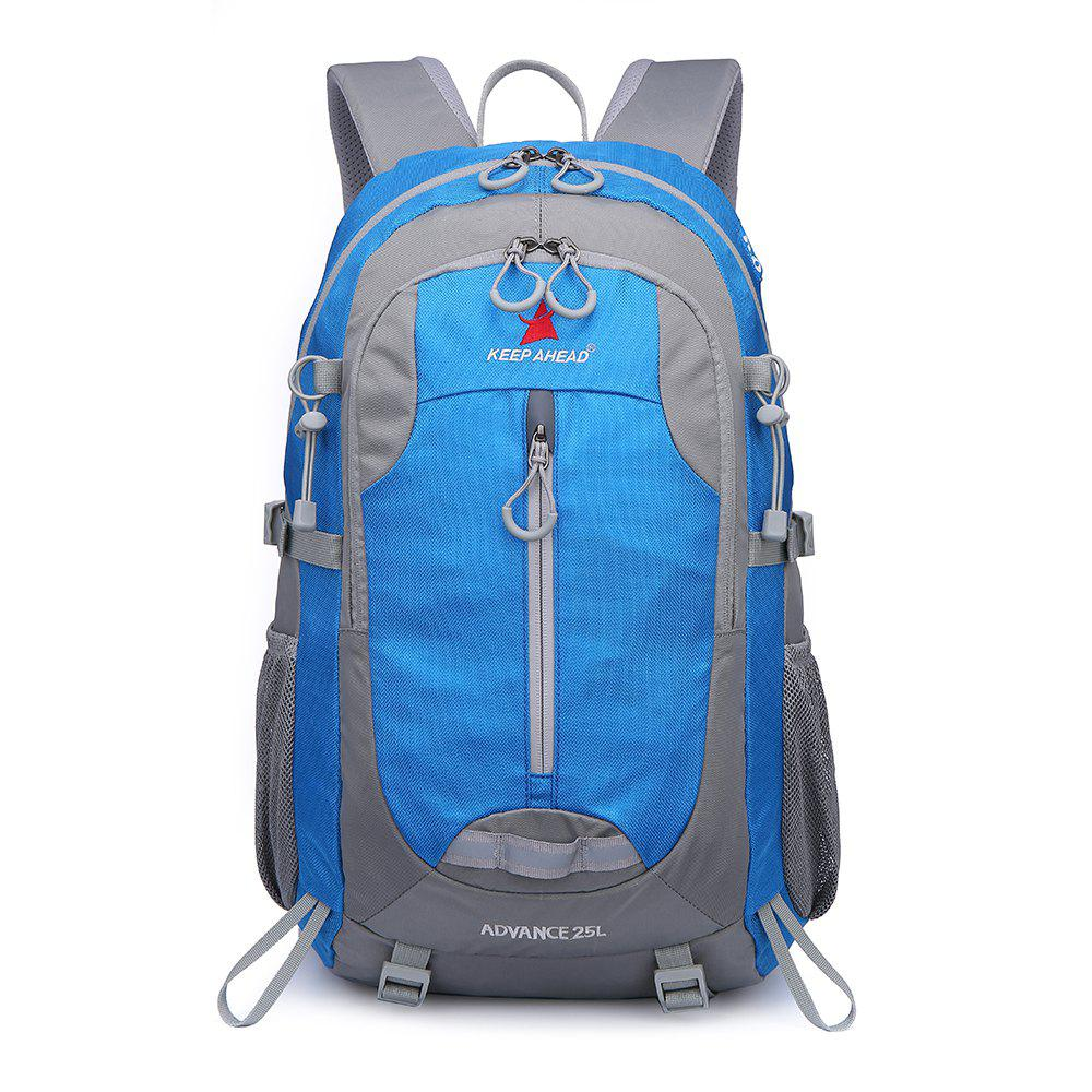 Casual Shoulder Outdoor Climbing Bag Travel Waterproof Large Capacity - SKY BLUE