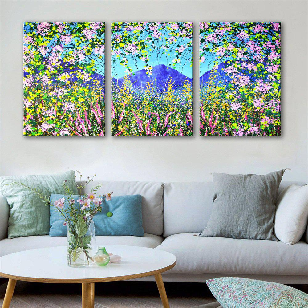 Special Design Frameless Paintings Colourful Print 3PCS - multicolor 24 X 16 INCH (60CM X 40CM)
