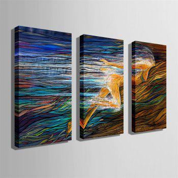 Special Design Frameless Paintings Goddess of The Earth Print 3PCS - multicolor 24 X 16 INCH (60CM X 40CM)
