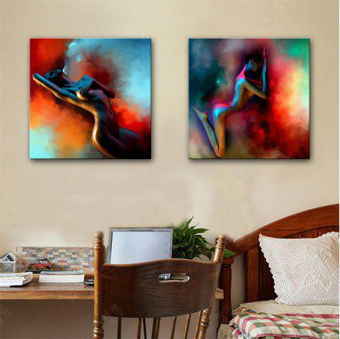Special Design Frameless Paintings Nude Model Print 2PCS - multicolor 24 X 24 INCH (60CM X 60CM)
