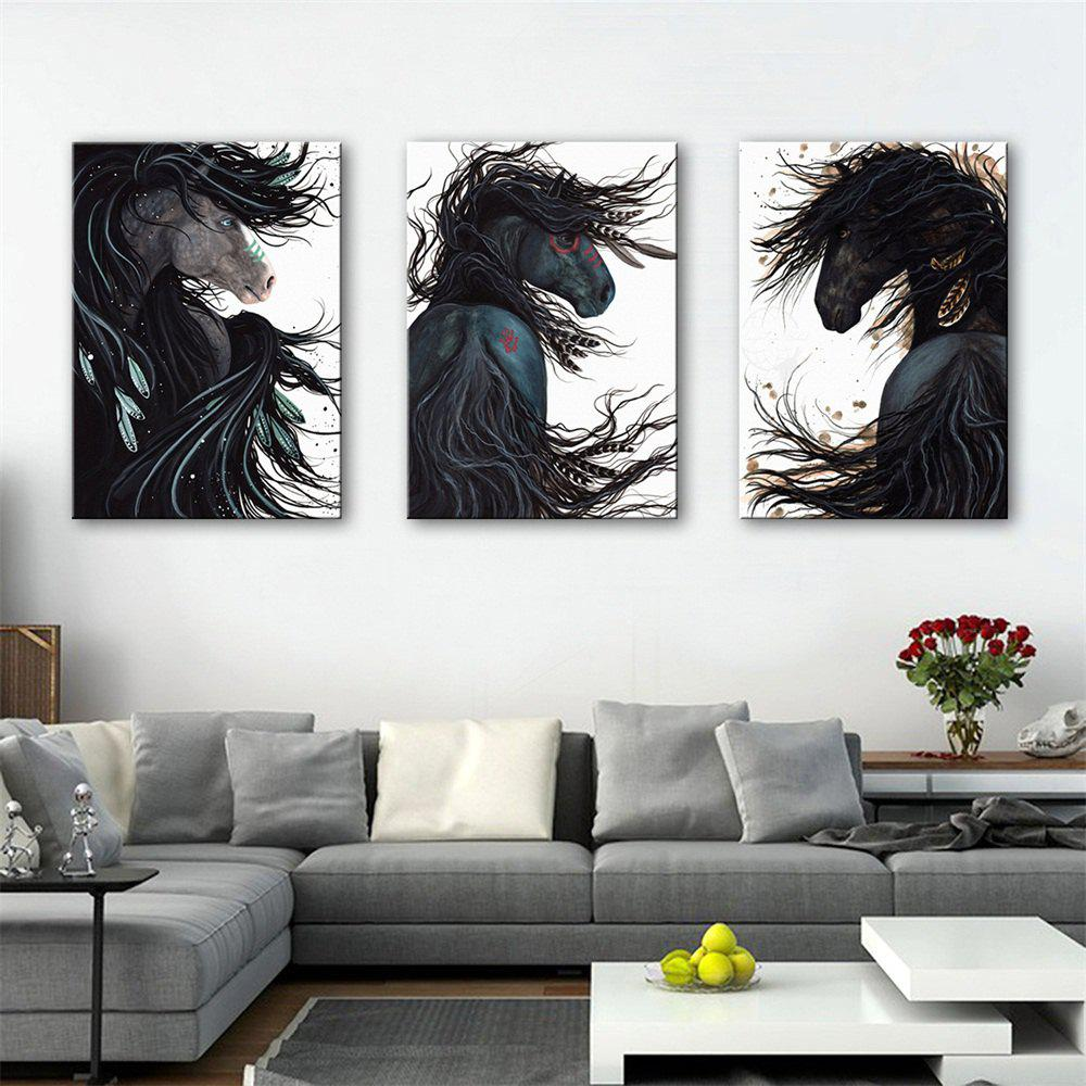 Special Design Frameless Paintings Chic Print 3PCS - DARK SLATE GREY 24 X 16 INCH (60CM X 40CM)