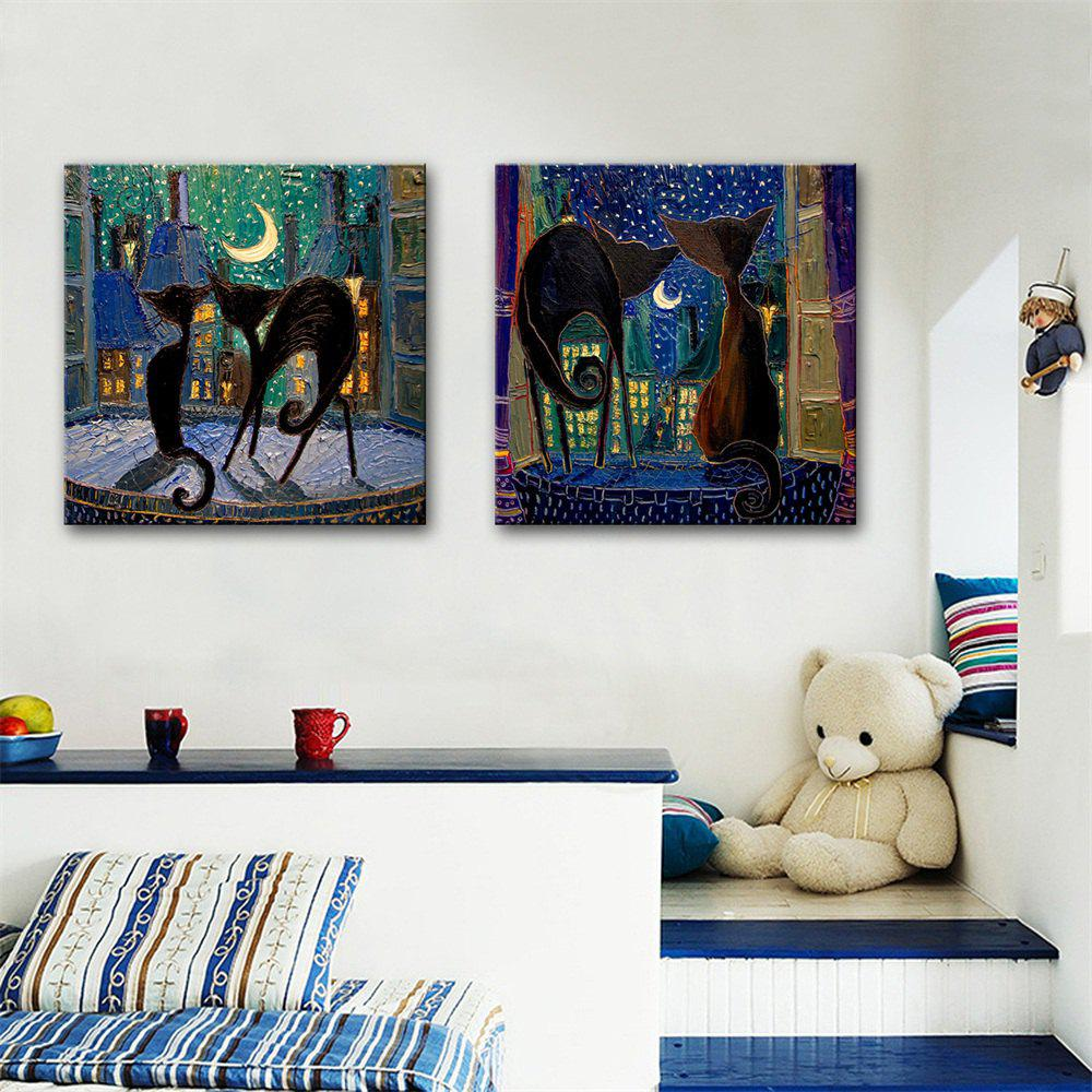 Special Design Frameless Paintings Accompany Print 2PCS - multicolor 24 X 24 INCH (60CM X 60CM)