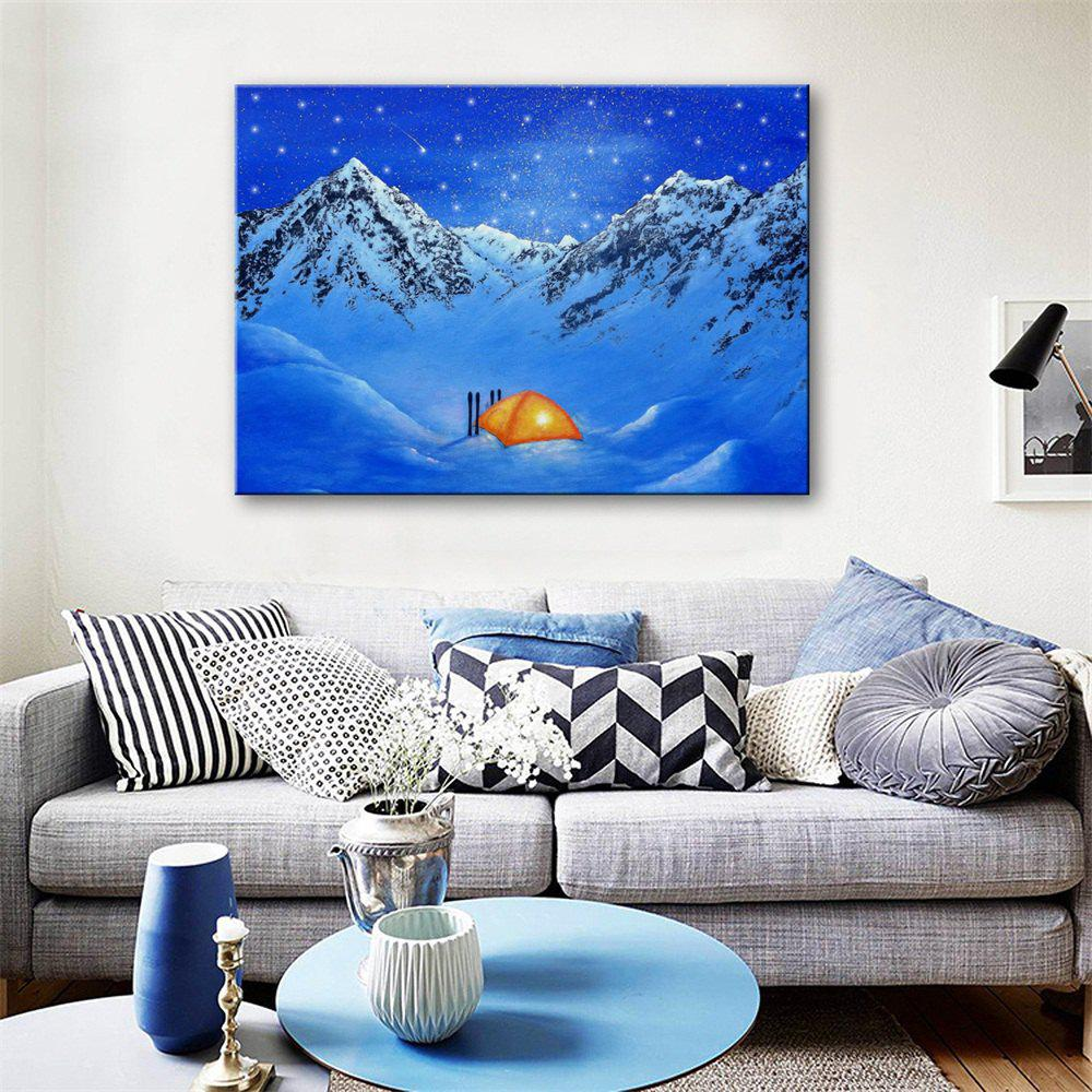 Special Design Frameless Paintings Be Stationed Print - CRYSTAL BLUE 24 X 16 INCH (60CM X 40CM)