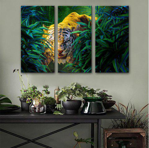 Special Design Frameless Paintings Ferocious Print 3PCS - multicolor 24 X 16 INCH (60CM X 40CM)