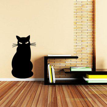 Black Cat Cartoon Blackboard Children Graffiti Kindergarten Decorative Stickers - BLACK