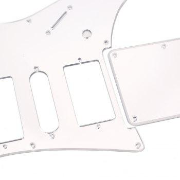 Mirror HSH Pickguard and Back Cover Fit for Electric Guitar - WHITE